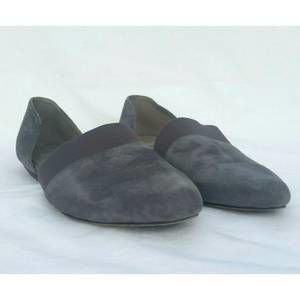 Eileen Fisher Flute Gray Suede D'orsay Flat 9